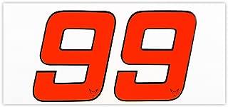 N/úmeros n/úmeros Start N/úmero Pegatinas Juego de 2/# 6/racefoxx
