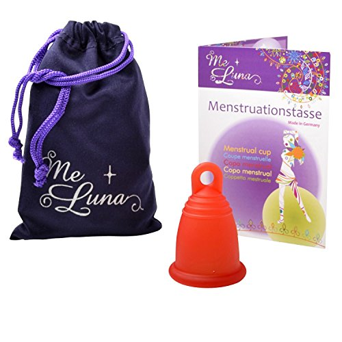 Me Luna Menstruationstasse Classic, Ring, Rot, Größe S