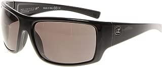 VonZipper Mens Suplex Sunglasses, Black Gloss w/Grey Meloptics Polarized Lens