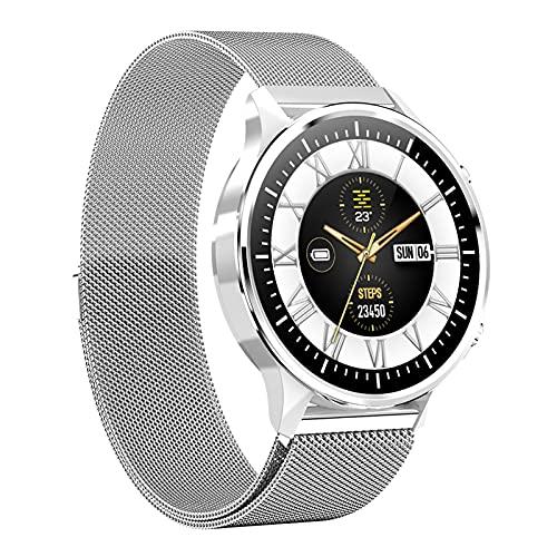 スマートウォッチ smart watch 活動量計 多機能 スマートブレスレット スポーツウォッチ 金属製ベルト IP68完全防水 長い待機時間 ストップウォッチ 万歩計 歩数計 腕時計 目覚まし時計 長座注意 多運動モード 着信&メッセージ通知 iPho