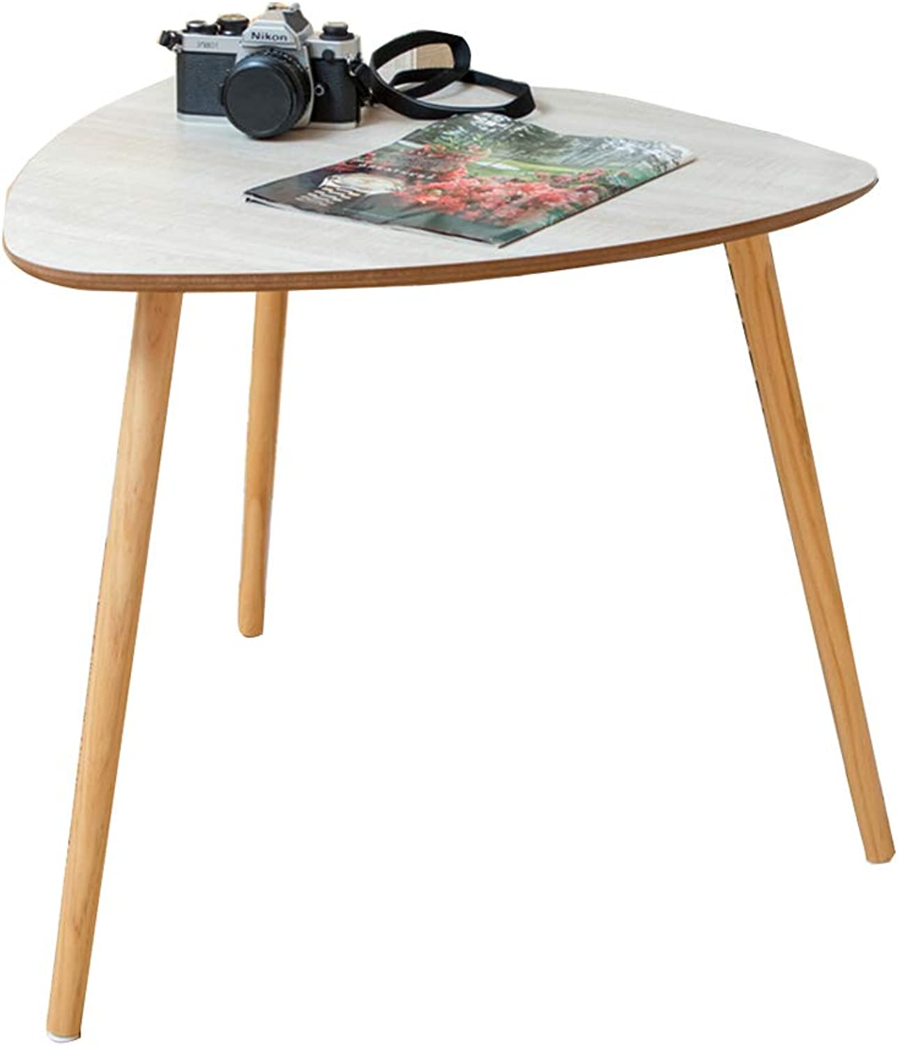 Nordic Small Coffee Table Simple Mini Small Round Table Sofa Side Cabinet Side Table Triangle Small Table (color   A, Size   35  41cm)