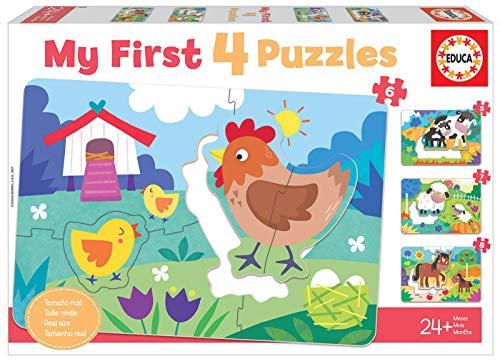Educa 18899 My First Mamás y bebés. Puzzles Progresivos Infantiles. 5, 6, 7 y 8 Piezas. +24 Meses. Ref, Multicolor