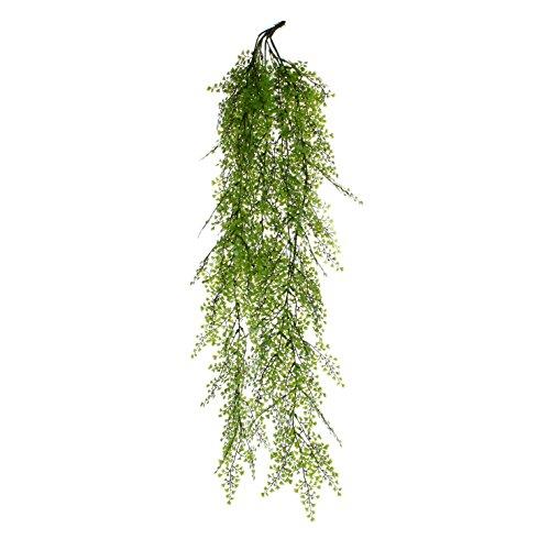 MICA Decorations 953666 zypress haengend L95 Plante en Plastique, Polyester, Vert, 95 x 17 x 17 cm