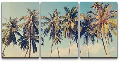 wall26 Canvas Print Wall Art Set Row of California Palm Tree...