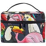 Voyage Cosmétique Sac Flamingo Perroquet Oiseau Trousse De Toilette Maquillage Pochette Tote Case Organisateur De Stockage pour Femmes Filles