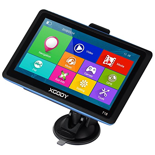 xgody 718Truck GPS Navigation System für KFZ 17,8cm Kapazitive Touchscreen GPS 8GB ROM Navigator mit Lifetime Maps Updates gesprochen Turn-by-Turn Richtungen