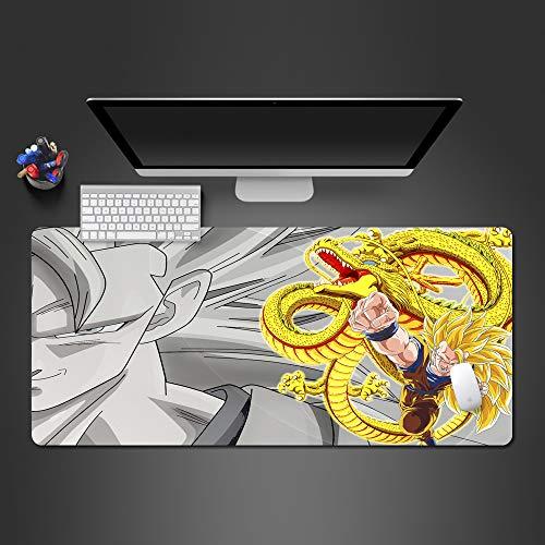 ZHANGSBD XXL Gaming Mauspad groß für Tastatur und Maus Animierter Junge mit Drachen Tischunterlage Large Size Mauspad 900x400mm mit vernähten Rändern verbessert Geschwindigkeit und Präzision rutschfes
