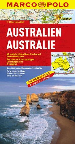 MARCO POLO Kontinentalkarte Australien 1:4 Mio. (MARCO POLO Kontinental /Länderkarten)