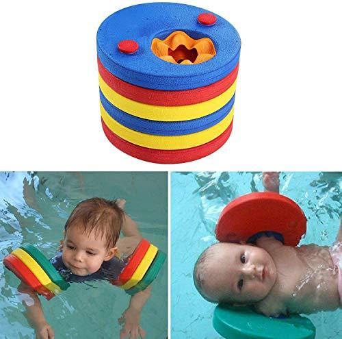 Lelesta Kids Swimming Float Discs Foam Swim Arm Bands Pool Set for...