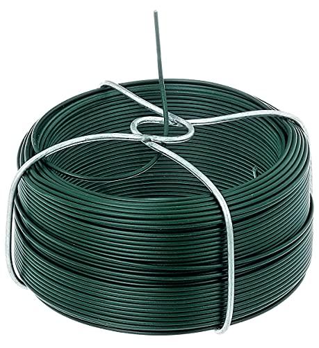 GAH-Alberts 530129 Drahtspule   verzinkt, grün kunststoffbeschichtet   Draht-Ø 1,4 mm   Länge 50 m