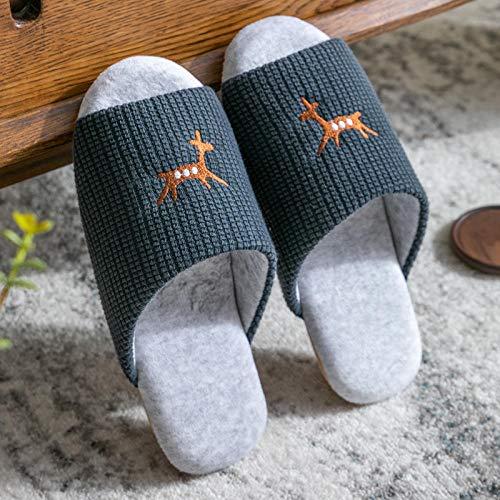 Zapatillas para Interior Hogar Viaje,Zapatillas Antideslizantes Transpirables, Interior Mute-Tibetan Blue_40-42,Pantuflas De Casa para Mujer