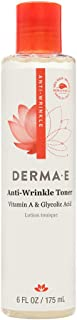Derma E Tóner antiarrugas con vitamina A ácido glicólico 6 oz