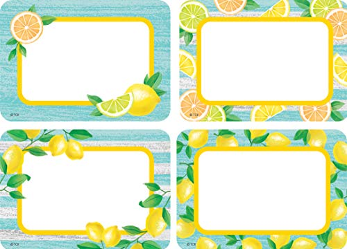 Teacher Created Resources Lemon Zest Name Tags/Labels - Multi-Pack (TCR8483)