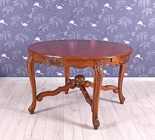 Ausziehtisch Mahagoni Tisch rund Esstisch Massivholz Esszimmertisch Holztisch mar140 Palazzo Exklusiv