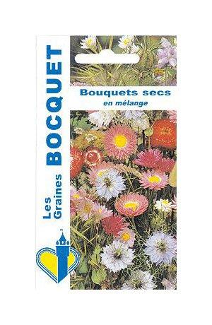 Les Graines Bocquet - Graines De Fleurs Pour Bouquets Secs En Mélange - Graines Potagères À Semer - Sachet De 1Grammes