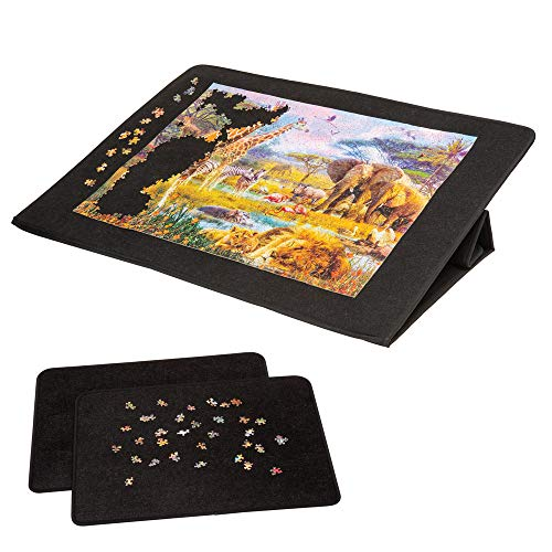 Bits and Pieces - Large Jigsaw Performance Portfolio - Surface Fits 1500 Piece Puzzles - Folds for Easy Storage - Puzzle Caddy Accessory, Jigsaw Puzzle Board