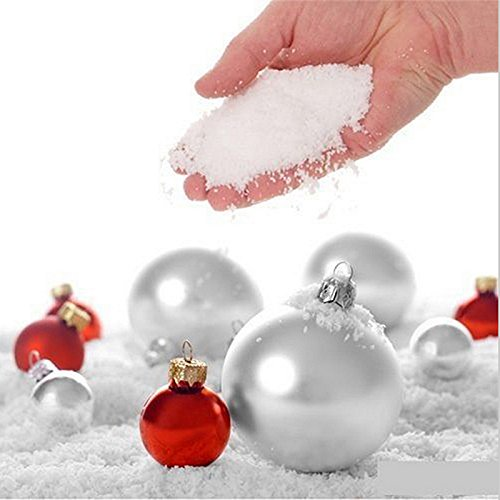 ReFaXi 10 Bags of Magic Instant Fake Fluffy Artificial Snow Super Absorbant Christmas Wedding Decor