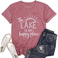 The Lake is My Happy Place Womens T Shirt
