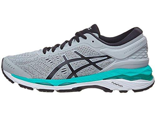 ASICS Women's Gel-Kayano 24 Running Shoe, Mid Grey/Black/Atlantis, 3.5 UK