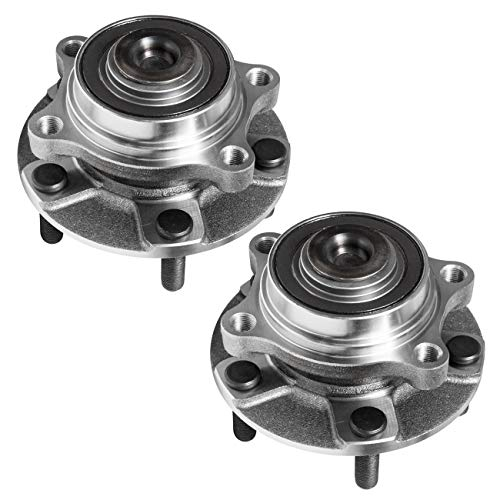 TUCAREST 513268 x2 (Pair) Front Wheel Bearing and Hub Assembly Compatible With 2003-2009 Nissan 350Z / 2003-2006 Infiniti G35 / 2007 G35 (2 Door Coupe Only)[RWD;5-Stud Hub]