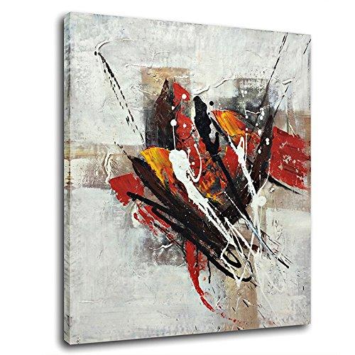 Raybre Art 50 x 60cm 100% Dipinti a Mano - Quadri su Tela Pittura ad Olio Grandi Quadri Astratti Moderni per Decorazione della Parete di Arte Casa, Senza Cornice