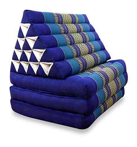 livasia Jumbo Dreieckskissen, Thaikissen,Liegematte, Thaimatte (blau)