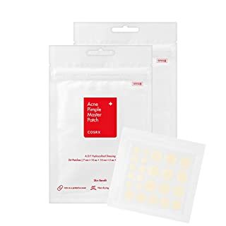 COSRX Acne Pimple Master Patch 48 Counts (2 Packs of 24 Patches) | A.D.F. Hydrocolloid Dressing | Quick & Easy Treatment