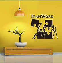 Trabajo En Equipo Misterio Sala De Estar Patrón Creativo Pared Pegatina Empresa Art Deco Vinilo Pared Pegatina Empresa 46X...