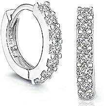 ?? AIUSD Clearance ??, Earrings Women Earrings Sterling Silver Rhinestones Hoop Diamond Stud Earrings for Women