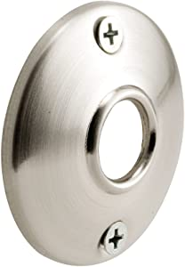 Defender Security E 2542 Door Knob Rosettes, 2-1/2 in. Outside Diameter, Steel, Satin Nickel Finish
