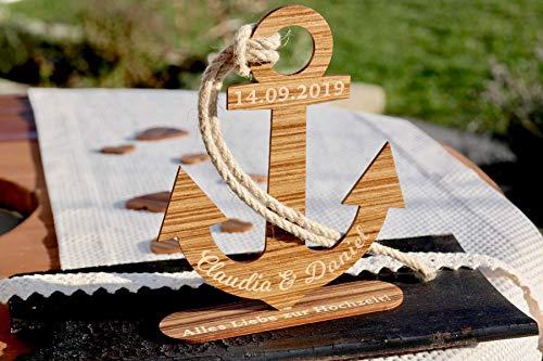 Ankern - Individuelles Geschenk zur Hochzeit aus Holz