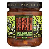 Desert Pepper Corn Black Bean Roasted Pepper Salsa, Medium, 16-Ounce (6 Pack)