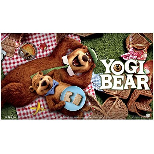 Yogi Bear and Boo Boo Feasting and Laughing on Some Picnic Baskets 8 x 10 Inch Photo