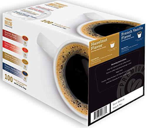 Dolché, Capsule di Caffè Americano, Compatibili Keurig K-cup 2.0, Box 100 Capsule, 4 Varietà