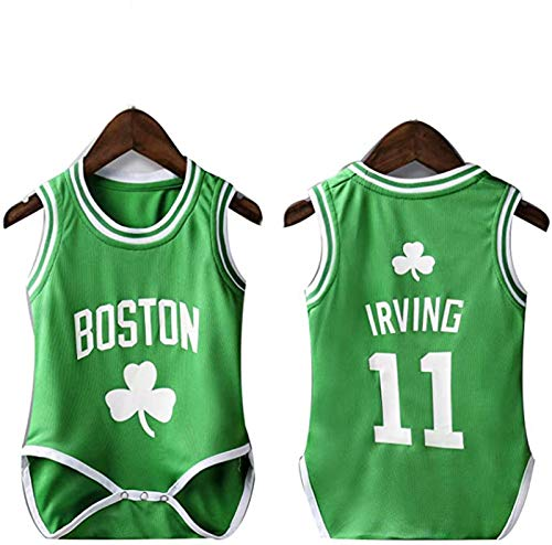 YDYL-LI New Basketball Jersey Uniform Baby One Piece Jersey Boston # 11 Kyrie Irving Fans All-Star Fans Jerseys Sudaderas para Niños, Transpirable,S
