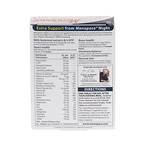 Vitabiotics Menopace Night - 30 Tablets