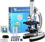 TELMU Microscopio para Niños Microscopios para Niños/Principiantes con 70 + Accesorios 3 Objetivos...