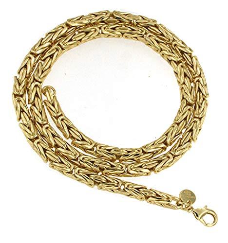 Königs-Kette rund Gold Doublé 6 mm 55 cm Halskette Gold-Kette Herren-Kette Damen Geschenk Schmuck ab Fabrik Italien tendenze BZGYRds6-55v