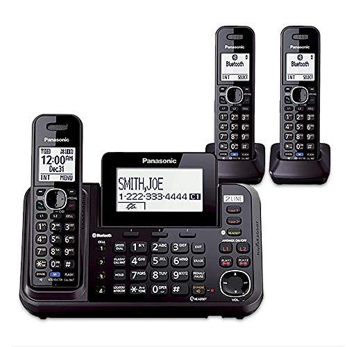 Panasonic KX-TG9542B + KX-TGA950B 3-Handset Cordless System (2 Line) DECT 6.0 1.9Ghz