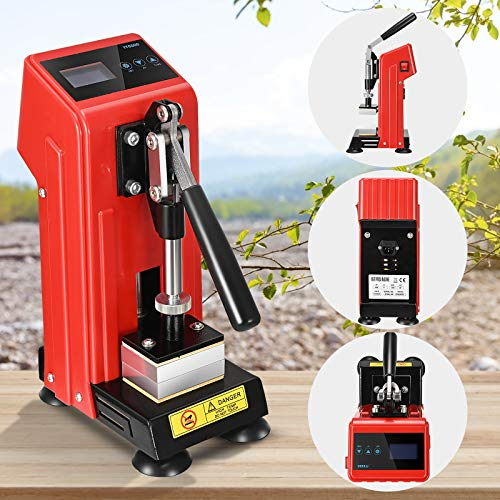 4YANG Rosin Press Machine 220V 400W Kolophonium-Abziehmaschine Doppelheizplatte Tragbare Heißpress-Heißpressmaschine für Kolophonium und getrocknete Blumen mit Temperaturregelung (rot)