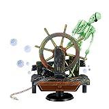 dairyshop action-aquarium Skelett Pirat Captain Ornament Fish Tank Landschaft Dekoration - 5