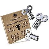 3 llaves de purga de radiadores Weiidebach® para todos los radiadores, robustas y estables, reducen el ruido, ventilación de calefacción