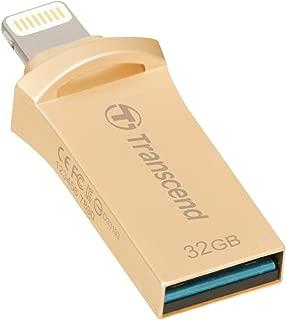 Transcend iPhone対応 USBメモリ(iPhone iPad iPod/Win Mac PC兼用:Apple MFi認証取得)32GB ゴールド  2年保証 TS32GJDG500G