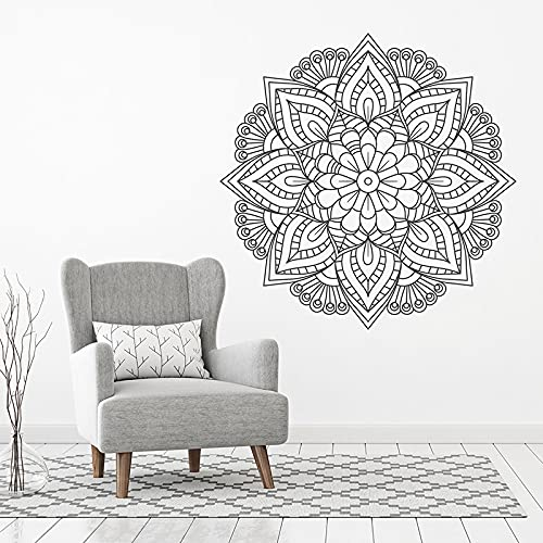 Hermoso Mandala único Bohemio Boho Pegatinas de pared Arte Decoración del hogar para sala de estar Calcomanías de dormitorio Papel tapiz para el hogar A15 57x57cm