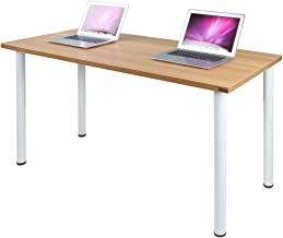 Need Computer Desk 55 inches Computer Table Writing Desk Workstation Office Desk, Teak White AC1BW-140