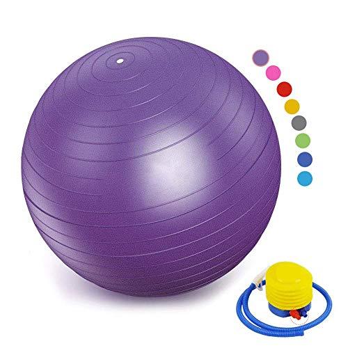 SONGHUI Mini Pilates Ball, Gymnastikball für Bauch-Beine-Po Übungen,lila-48cm