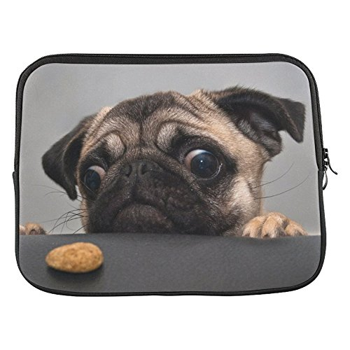 InterestPrint Pug Puppy Dog 11' 11.6' Inch Laptop Sleeve Bag for Lenovo, Dell Inspiron, Vostro, Samsung, ASUS UL30, Toshiba Notebook,Samsung Chromebook Microsoft Surface Pro 3