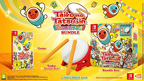 Taiko no Tatsujin: Drum 'n' Fun! - Bundle inkl. Trommel - (exklusiv bei Amazon.de) - [Nintendo Switch]