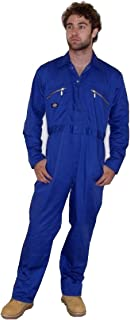 Dickies Redhawk Zip Front Coverall White 40/R