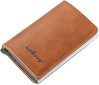 Baellerry Leather Wallet With Aluminum Credit Card Holder With Automatic Pop Up Button Holds 7 Cards - Havan